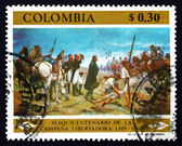 Postage stamp Colombia 1969 Army of Liberation Crossing Pisba Pa — Stock Photo