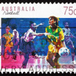 Stock Photo: Postage stamp Australi1991 Netball, Ball Sport