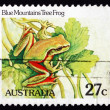 Postage stamp Australia 1981 Blue Mountains Tree Frog, Amphibian — Stock Photo