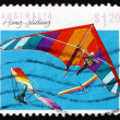 Postage stamp Australia 1990 Hang gliding, Air Sport — Stock Photo