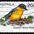Postage stamp Australia 1979 Eastern Yellow Robin, Bird — Stock Photo #21909321