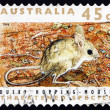 Postage stamp Australia 1992 Dusky Hopping Mouse, Rodent - Stock Photo