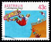 Postage stamp Australia 1990 Skateboarding, Action Sport — Stock Photo
