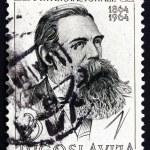 Постер, плакат: Postage stamp Yugoslavia 1964 Friedrich Engels Political Theori
