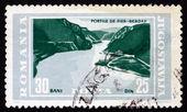 切手のユーゴスラビア 1965年の鉄の門、ドナウ川 — ストック写真