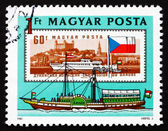 Postage stamp Hungary 1981 Passenger Ship Arpad, 1829 — Stock Photo