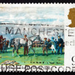 Postage stamp GB 1979 Saddling Mahmoud for the Derby — Stock Photo