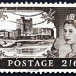 Postage stamp GB 1955 Carrickfergus Castle, Ireland — Stock Photo