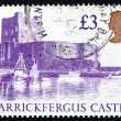 Royalty-Free Stock Photo: Postage stamp GB 1995 Carrickfergus Castle, Ireland