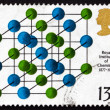 Stock Photo: Postage stamp GB 1969 Salt Crystallography