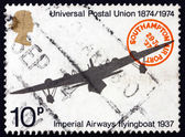 Postage stamp GB 1974 Imperial Airways Flying Boat — Stock Photo