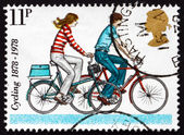Postage stamp GB 1995 Modern Small-wheel Bicycles — Stock Photo