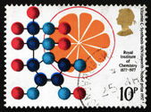 Postage stamp GB 1969 Vitamin C Synthesis — Stock Photo