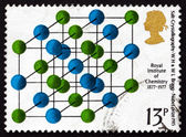 Postage stamp GB 1969 Salt Crystallography — Stock Photo