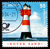 Postage stamp Germany 2004 Roter Sand, Lighthouse — Stock Photo