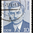Stock Photo: Postage stamp GDR 1974 Wilhelm Florin, Politician