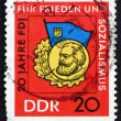 Stock Photo: Postage stamp GDR 1966 Medal for Scholarship