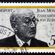 Stock Photo: Postage stamp Germany 1977 JeMonnet, Honorary Citizen of Euro