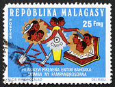Postage stamp Malagasy 1974 Symbols of Development — Stock Photo