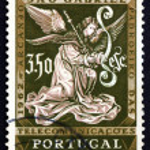 Postage stamp Portugal 1962 Archangel Gabriel, Messenger — Stock Photo