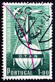 Postage stamp Portugal 1952 Symbolical of NATO — Stock Photo