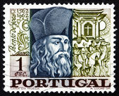 Postage stamp Portugal 1968 Bento de Goes, Jesuit Brother — Stock Photo