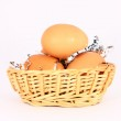 Eggs in a basket — Stock Photo #2239067