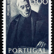 Stock Photo: Postage stamp Portugal 1974 Duarte Lobo, Portuguese Composer