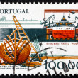 Stock Photo: Postage stamp Portugal 1978 Shipbuilding Industry