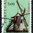 Stock Photo: Postage stamp Portugal 1971 Windmill, Pico, Azores