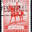 Postage stamp Australia 1935 King George V on his Charger Anzac - Stock Photo