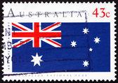 Australská vlajka austrálie 1991 poštovní známka, australský den — Stock fotografie