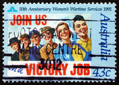Postage stamp Australia 1991 Women's Wartime Services — Stock Photo