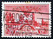 Postage stamp Australia 1936 Proclamation Tree and View of Adela — Stock Photo