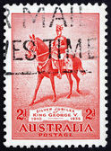 Postage stamp Australia 1935 King George V on his Charger Anzac — Stock Photo