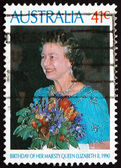 Postage stamp Australia 1990 Queen Elizabeth's 64th Birthday — Foto de Stock