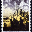 Postage stamp Australia 1990 Anzacs at the Front - Stock Photo
