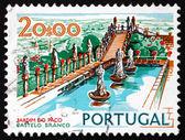 Estampilla portugal 1972 episcopal jardín, castelo branco — Foto de Stock