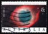Timbre-poste nébuleuse de l'hélice Australie 1992, planetary nebula — Photo