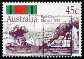 Postage stamp Australia 1992 Bombing of Darwin, 1942 — Stock Photo