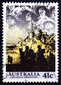 Postage stamp Australia 1990 Anzacs at the Front — Stock Photo