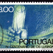 Postage stamp Portugal 1972 Hand Saving Manuscript — Stock Photo #22654171