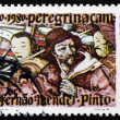 Postage stamp Portugal 1980 Mendes Pinto and Chinese Men — Stock Photo
