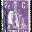 Постер, плакат: Postage stamp Portugal 1912 Ceres Goddes of Agriculture