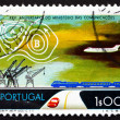 Postage stamp Portugal 1973 Transportation, Weather Map — Stock Photo