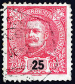 Postage stamp Portugal 1899 King Carlos, King of Portugal — Stock Photo