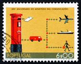 Postage stamp Portugal 1973 Postal Service — Stock Photo
