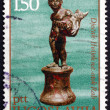 Postage stamp Yugoslavi1971 Boy with Fish, Antique Bronze — Stock Photo #22803580