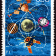 Postage stamp Yugoslavia 1971 Satellites - Stock Photo