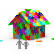 House from puzzles — Stock Photo